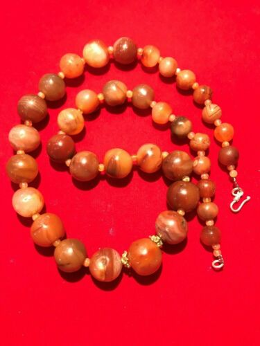 A beautiful old Pre Ankor carnelian beads necklace from Combodia