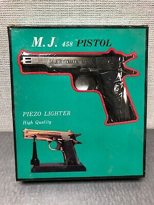 PIEZO Black Electronic Gas Lighter Pistol w/ Original Box