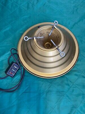 Vintage Gold Painted Spincraft Heirloom Rotating Musical Christmas Tree Stand