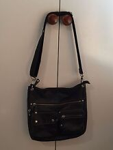 Black leather Fossil cross body bag Kenmore Hills Brisbane North West Preview