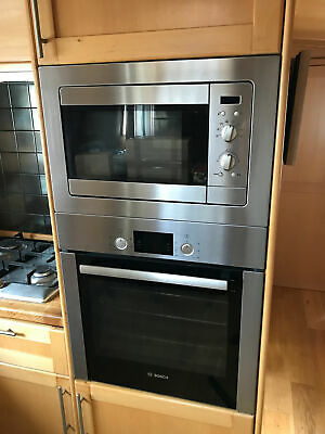 BOSCH BUILT-IN 60CM ELECTRIC SINGLE OVEN AND TEKA MICROWAVE - GOOD CONDITION