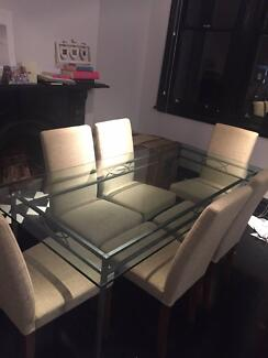 Dining table and chairs (x 6) perfect condition Paddington Eastern Suburbs Preview