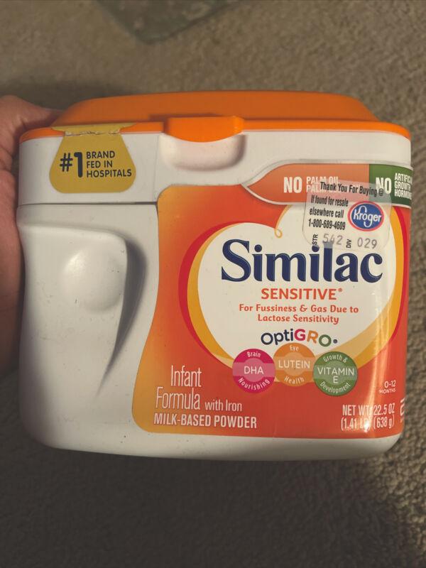 similac sensitive formula 4 Tubs New Unopened Tubs