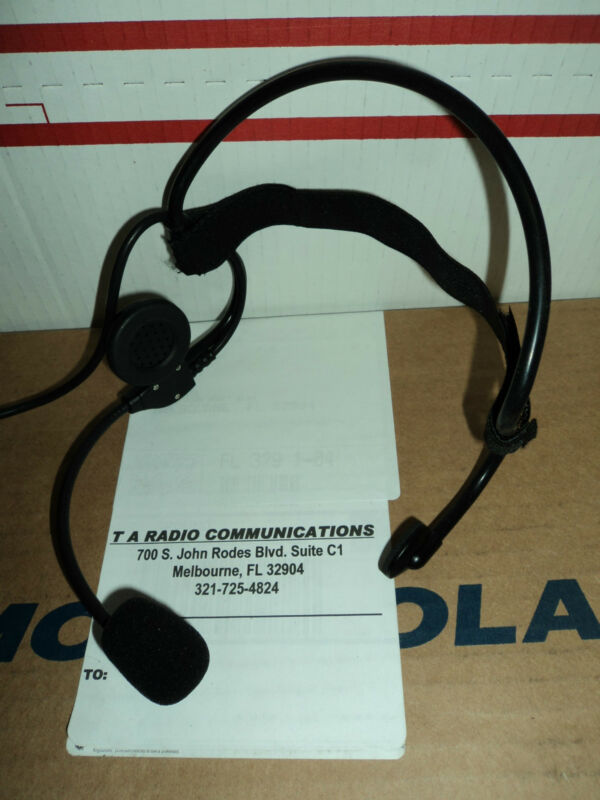 Tactical Behind The Head HEADSET Metal Flex Boom Mic Large PTT MOTOROLA RADIOS