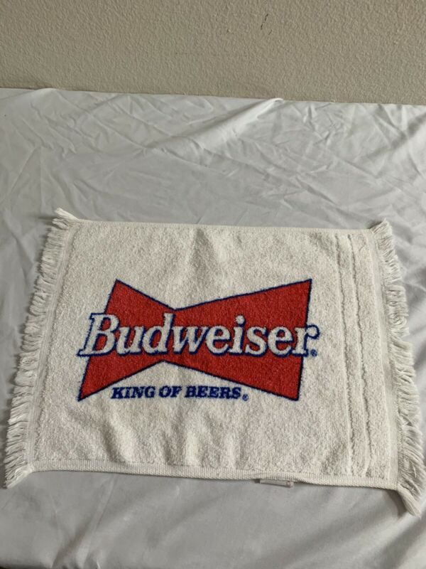 Budweiser King Of Beers Small Towel 16 Inch By 11 Inch