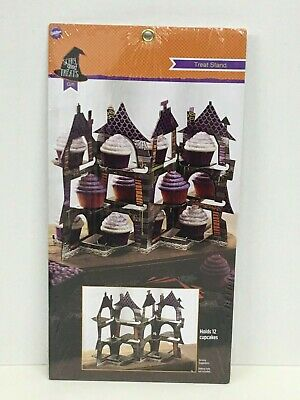 Wilton Halloween Cupcake Stand (Wilton HALLOWEEN Haunted House Treat Stand Holds 12 Cupcakes Cardboard)
