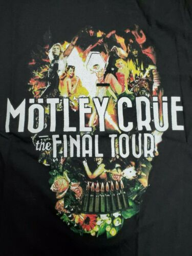 2014 MOTLEY CRUE & ALICE COOPER VINTAGE CONCERT TOUR BAND LARGE T-SHIRT (UNWORN