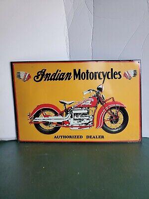 INDIAN MOTORCYCLES sign vintage DEALER 17x11