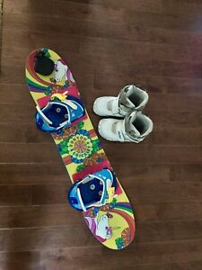Burton Chicklet 90 Snowboard Package