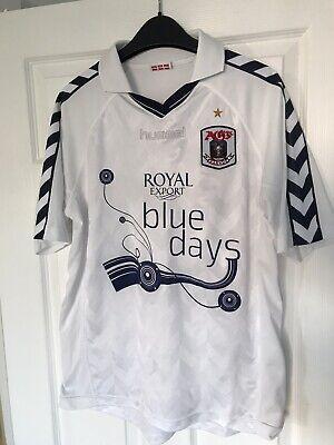 Rare AGF Aarhus Football Shirt 2005/06 jersey hummel Large Denmark Soccer image