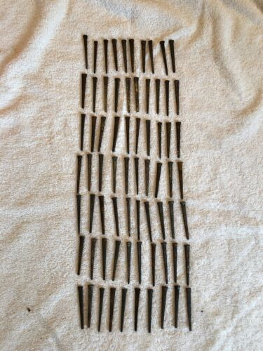 """Vintage 70 Square Cut  2""""- 2 1/2"""" Inch Straight Nails w/Square Heads"""