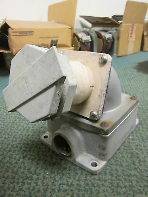 Crouse-hinds Receptacle W Base Nr 642 60a 3w 4p Used
