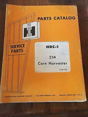 International Parts Catalog Hrc1 234 Corn Harvester