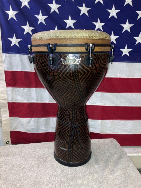 "Pre-owned Remo Djembe 25"" x 14"" Designer Series? Mondo Fiberskyn Drum Percussion"