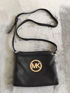 Authentic Michael Kors Black Fulton Small Saffiano Leather Bag