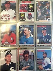 About 500 baseball cards