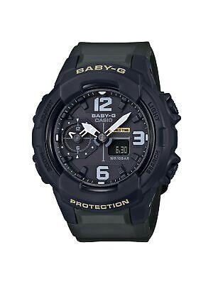 Casio Women Baby-G Black Resin Japanese Analog & Digital Diving Watch BGA230-3B
