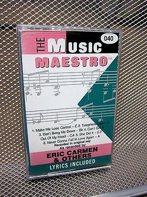 ERIC CARMEN karaoke accompaniment cassette tape Electric Light Orchestra OG