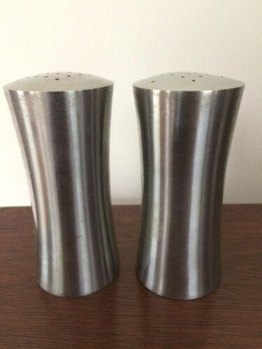 Vtg CULTURA Salt & Pepper Set SWEDEN Mid Century Modern 18-8  Stainless