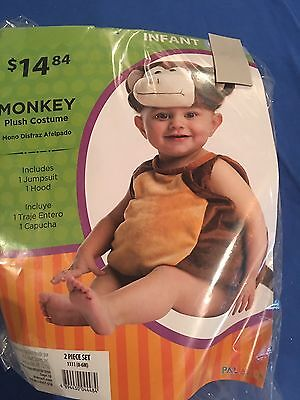 Halloween Costume Infant Monkey 0-6 months Or  6-12 months