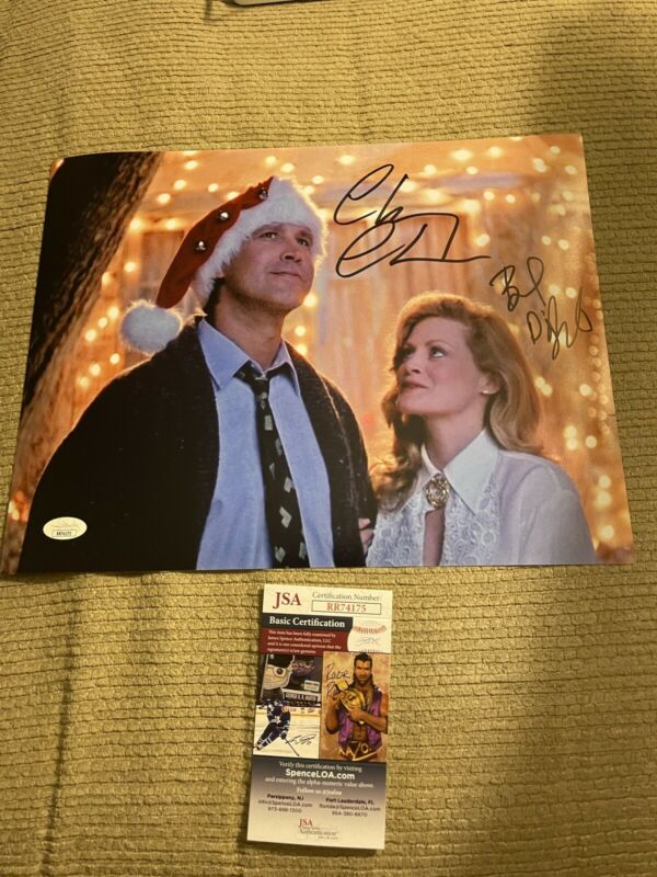 Autographed Chevy Chase Beverly D'angelo Signed 11x14 Photo Lampoon Jsa Coa