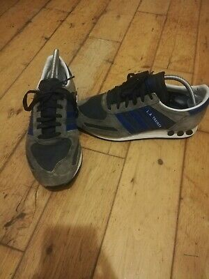 Vintage Adidas LA trainer Size 7 Blue White Grey Black
