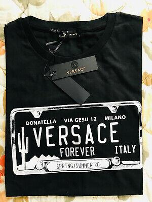 Versace Men`s T-shirt Size 52 XXL Donatella Via Gesu 12 Milano Design