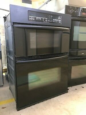 Black Kitchenaid Built In Convection Wall Oven And Microwave Mdl# KEMC307KBL05