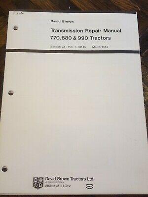 David Brown 770 880 990 Transmission Service Manual Original