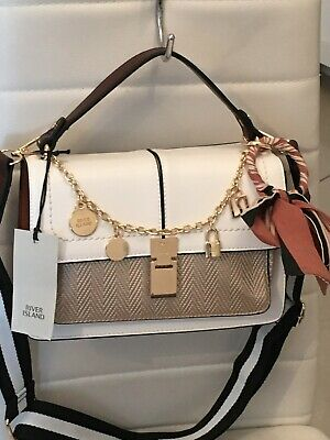 STUNNING 💜 NEW 💕 RIVER ISLAND BAG CROSS BODY SHOULDER CHAIN CHARM❤️
