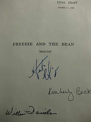 Freebie and the Bean Signed TV Script William Daniels Hector Elizondo Beck repnt