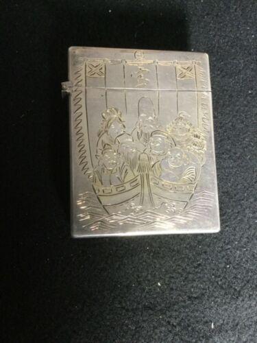 VINTAGE 950 Silver CIGARETTE PACK CASE JAPANESE ORNATE