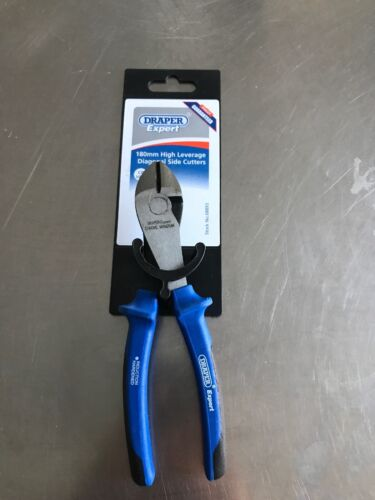 Draper Tools 50251 Expert Ergo Plus Fully Insulated High Leverage VDE Diagonal Side Cutters 180 mm