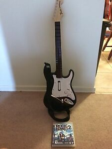 Rockband Guitar and Game LIKE NEW!!