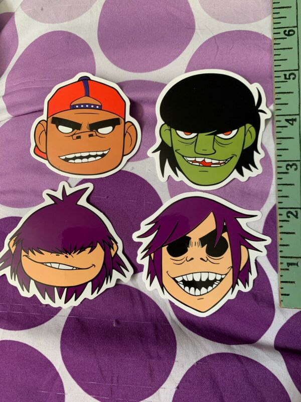 Gorillaz Set Of 4 Band Sticker