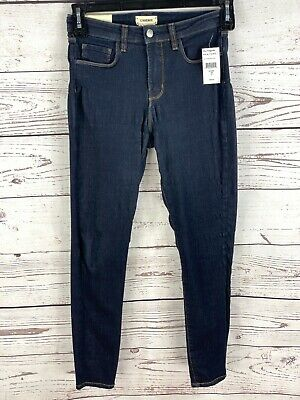L'AGENCE Margot High Rise Cropped Skinny Jeans in Midnight Wash Size 25 *READ*