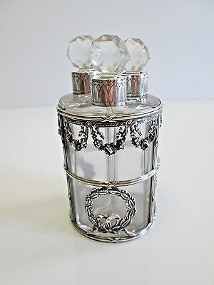 Antique Sterling Silver Perfume Bottle Set