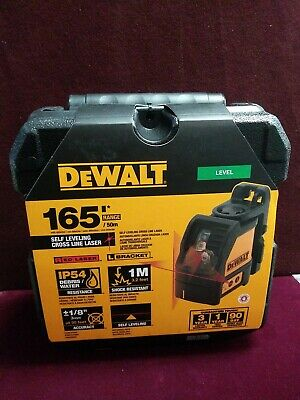 Dewalt Dw088k Red Cross Line Laser 165 Range Shock Resistant Self Leveling