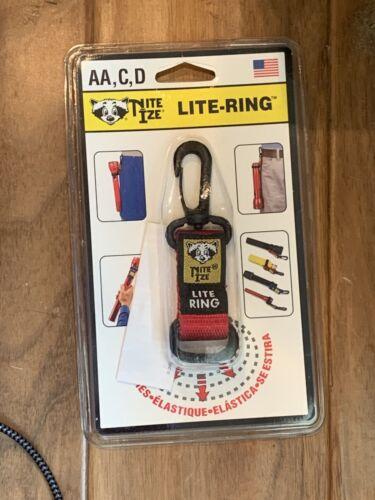 light ring red flashlight clip fits aa