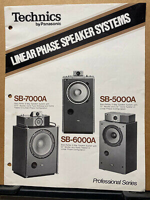 Vtg Technics Brochure ~ Speaker Systems SB-7000A SB-6000A SB-5000A