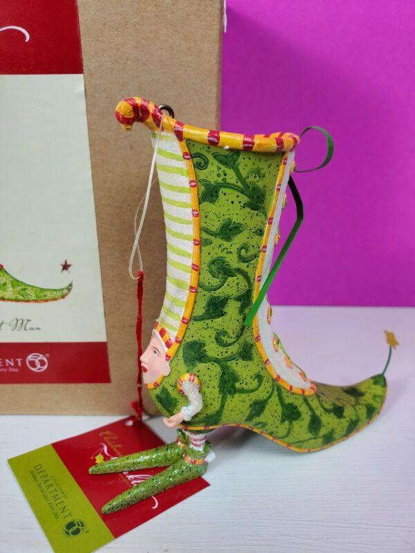 NEW Dept 56 Krinkles Patience Brewster Green Shoe Ornament Figure Victorian Boot