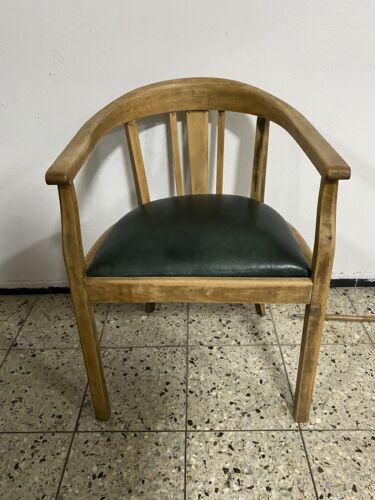 Schreibtischstuhl Armlehnstuhl Stuhl Sessel Leder Bauhaus Artdeco Jugendstil