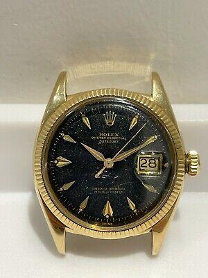 Vintage 1958 ROLEX Datejust 6605 14K Gold Watch Caliber 1065