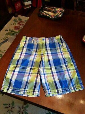 Boys Madras Shorts (Auth. Boy's RED CAMEL MADRAS PLAID SHORTS Sz 16 100% COTTON Multi-Color)