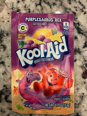 8 *RARE* Kool Aid Drink Mix PURPLESAURUS REX. Great Flavor BEST USED BY