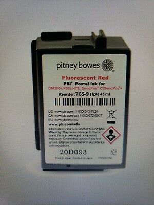 Brand New Pitney Bowes 765-9 Florescent Red Ink Cartridge