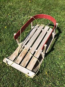 Wooden kids sled