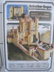 Hohenschwangau Schloss Burg Schreiber-Bogen Kartonbausatz *NEU* Bastelbogen