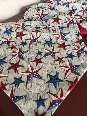 4th of July Red, White & Blue Texas Stars Cotton Table Runner by - Red And White Table Runner