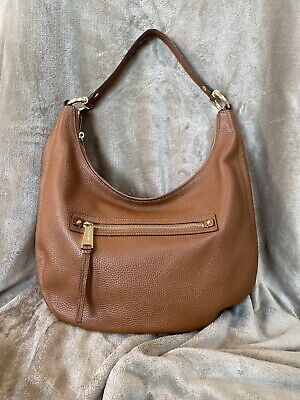 Michael Kors Leather Hobo Handbag Camel Tan Light Brown